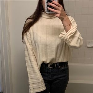Misguided Cream Knit Sweater